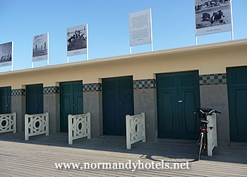 The boardwalk at Deauville in France