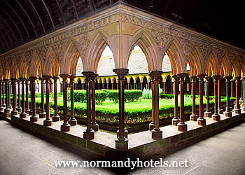 Cloister on Mont St Michel