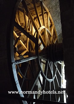 Wheel used in prison on Mont St Michel