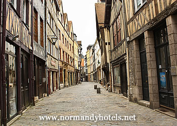 Old centre of city in Rouen